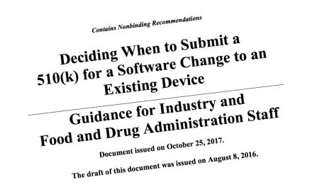 FDA Guidance on Software Changes